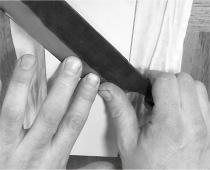2.表面の研ぎ方